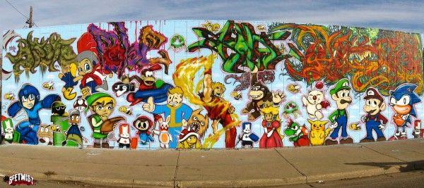 le jeu video en mode street art!! C6934310