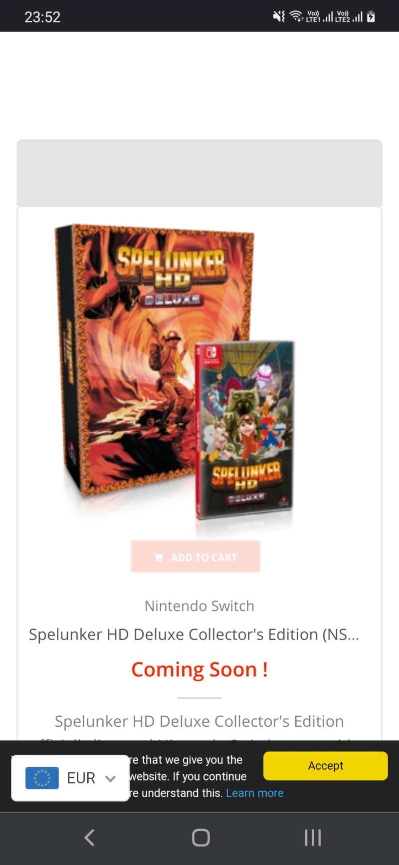 Les sorties Strictly Limited Games Screen33