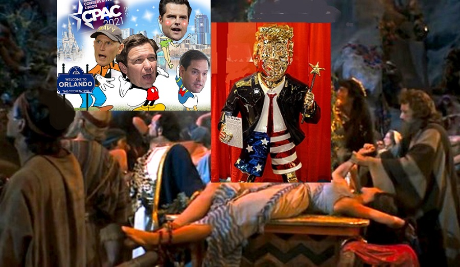 CPAC-2021 at Orlando Florida. 2/25/21 to 2/28/21 Leave Your Soul at Home. Gold_c10