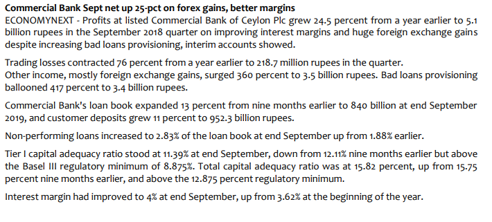 Q-TO-Q Financial Report-Financial Performance- Period ended 30 September 2018 - Page 2 C10