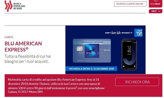BANCA POPOLARE DI BARI & CARTA BLU AMERICAN EXPRESS regalano Smartphone Galaxy J5 2017 [promozione scaduta il 31/12/2018] Cattur10