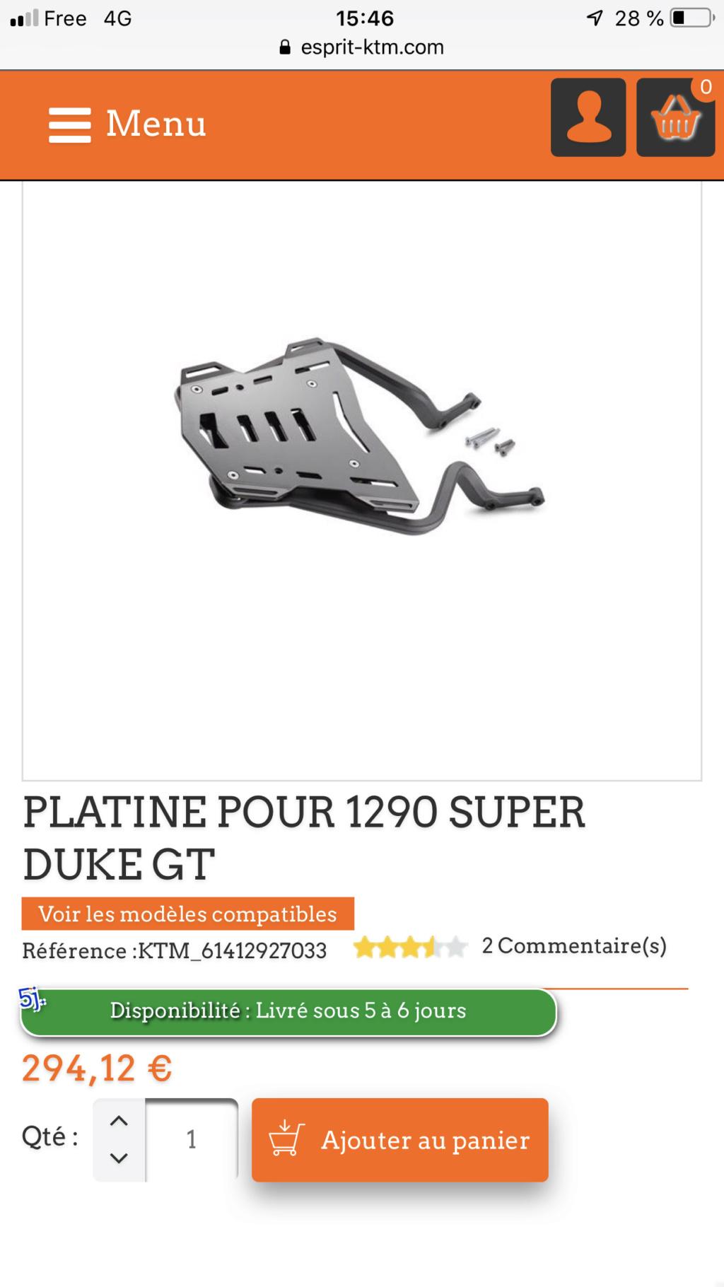 Quelques bidouilles sur ma GT : Support de U, manchons étanches pour l'hiver, selle confort et bulle haute. 19469210