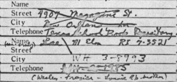 Did Oswald deny living at 1026 N Beckley?  - Page 5 Ruth_a10