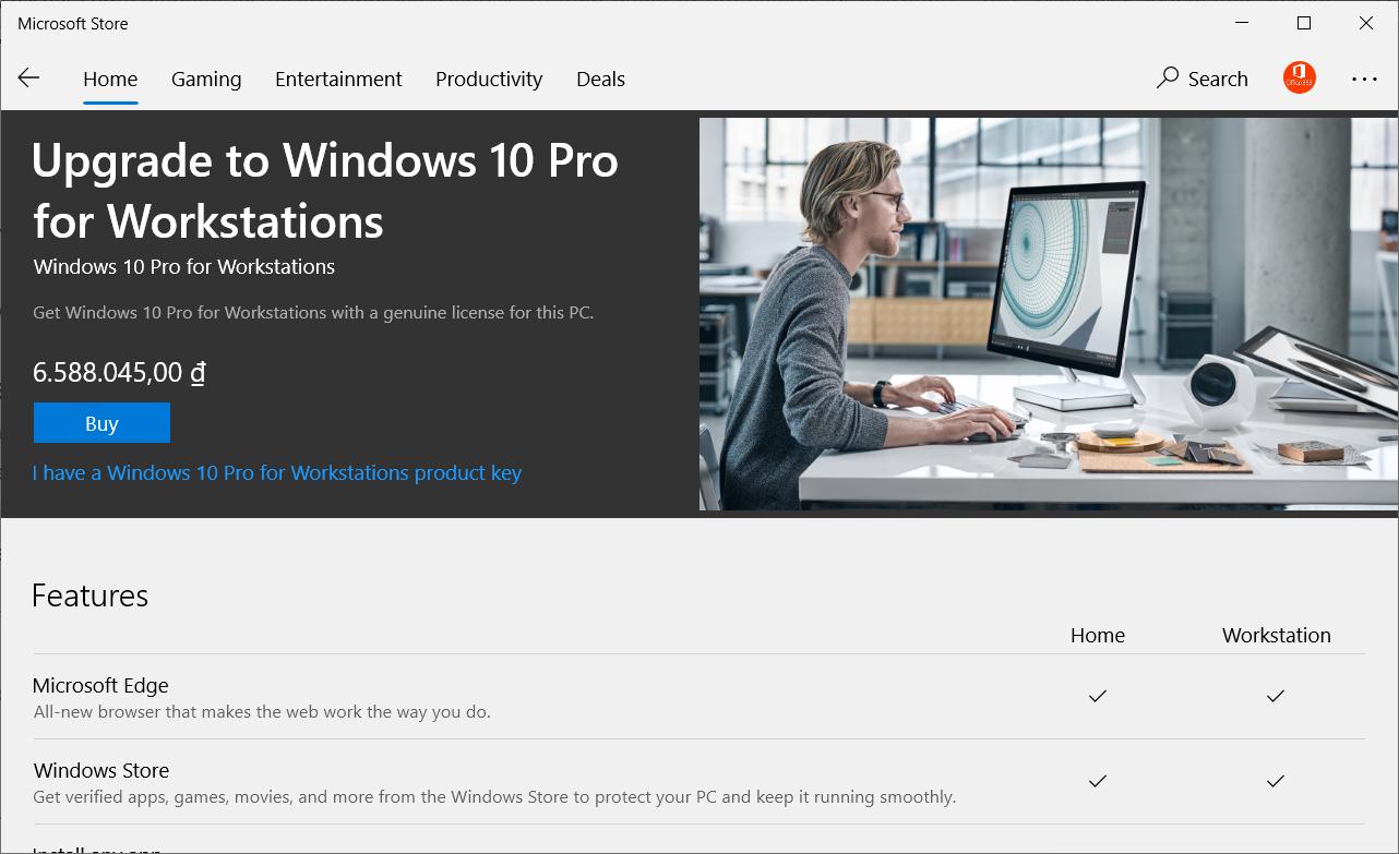 Các phiên bản cho Windows 10 10work10