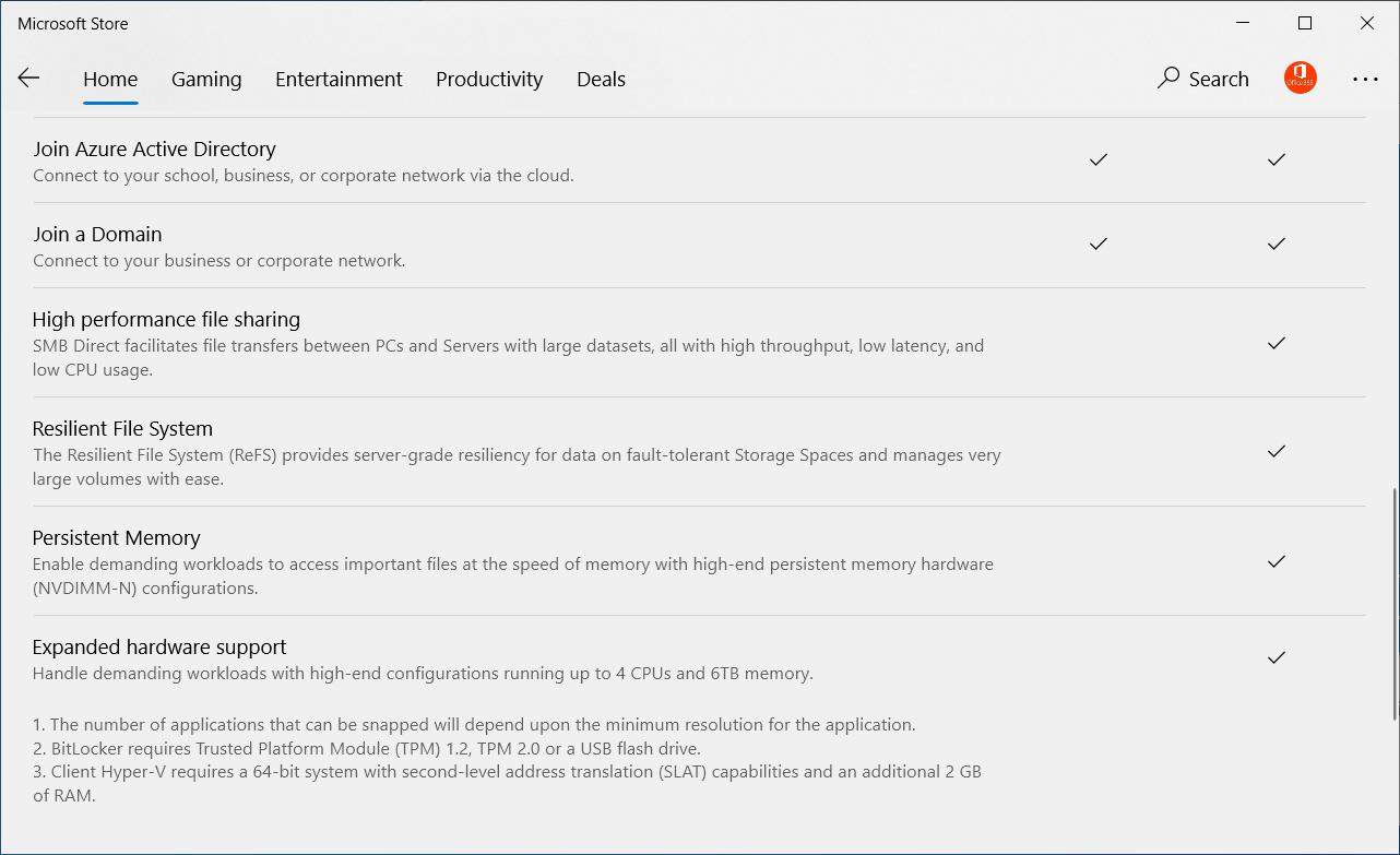 Các phiên bản cho Windows 10 10work12