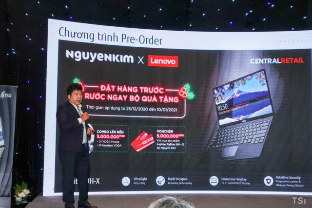 Fujitsu UH-X chỉ 749 gram do Nguyễn Kim phân phối Fujits15