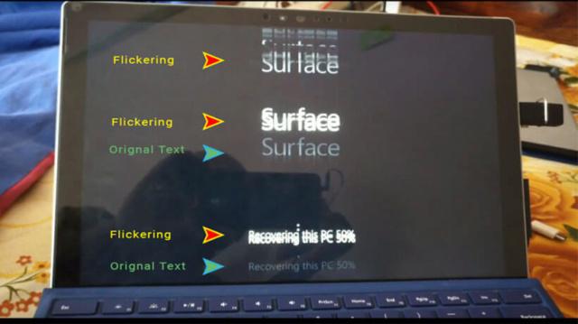 Surface Pro 4 gặp lỗi về hiển thị màn hình nhấp nháy Surfac11