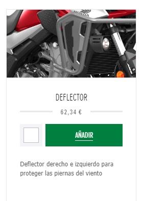 Deflectores Honda CB500X año 2019 Deflec10