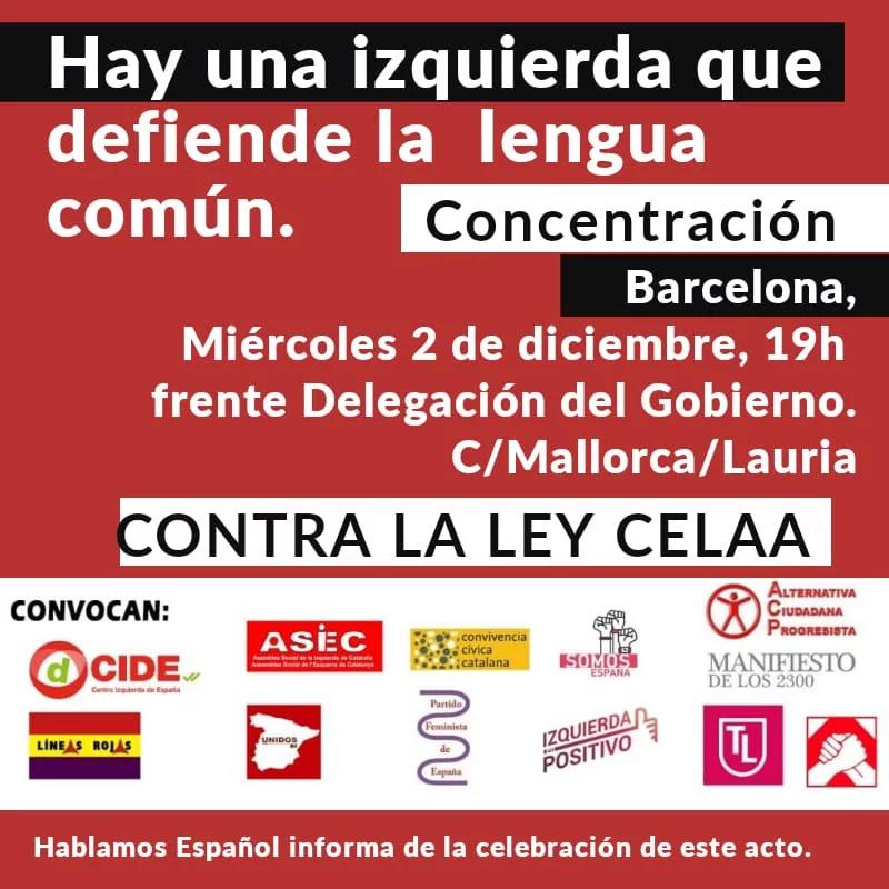 Mañana, a la manifestación en Barcelona para defender la lengua de todos En64q210