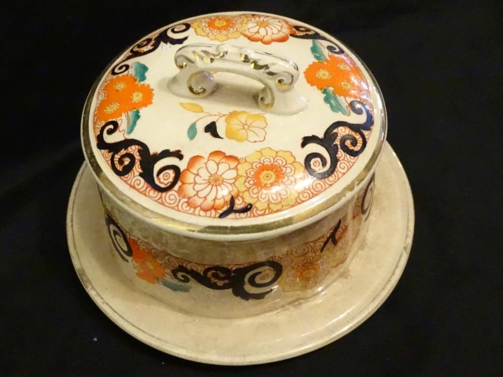 Staffordshire butter / jam dish pattern no. 4547 B 405b10