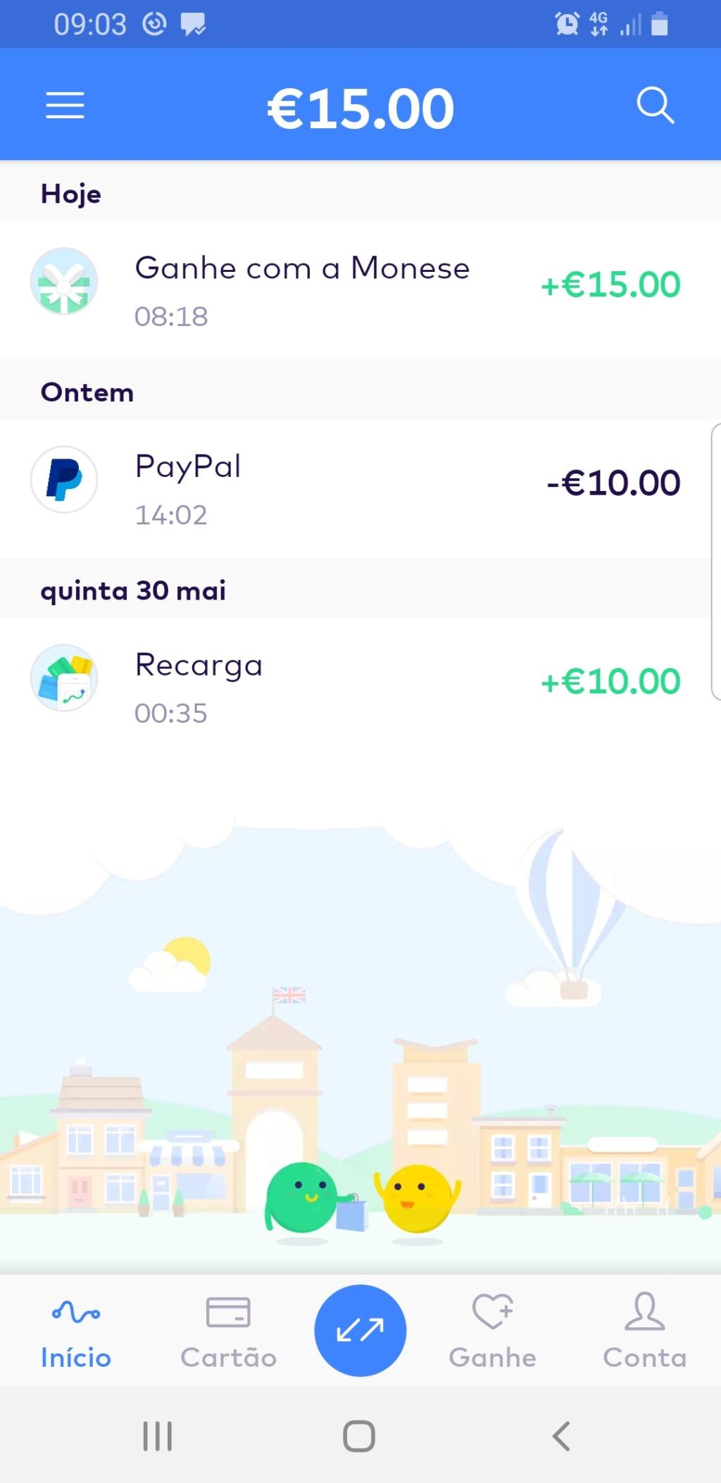Oportunidade [Provado] Monese Ganha 15 euros  Screen47