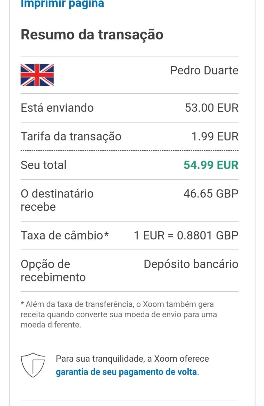 OPORTUNIDADE [Provado] - Ganha 25€ Paypal por registar na Xoom (empresaPaypal) - Página 2 Screen53