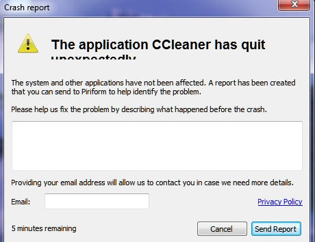 Message Ccleaner  Cclean10