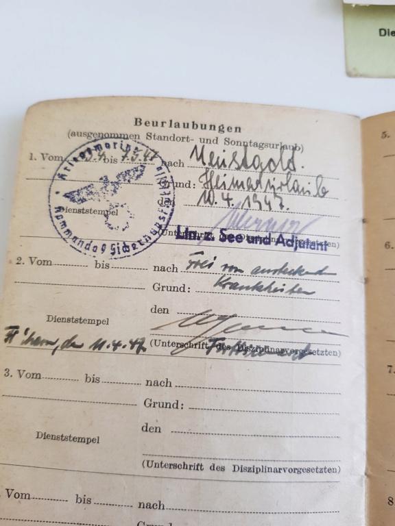 2 grouping soldbuch heer et kriegsmarine Pow démineur  20200734