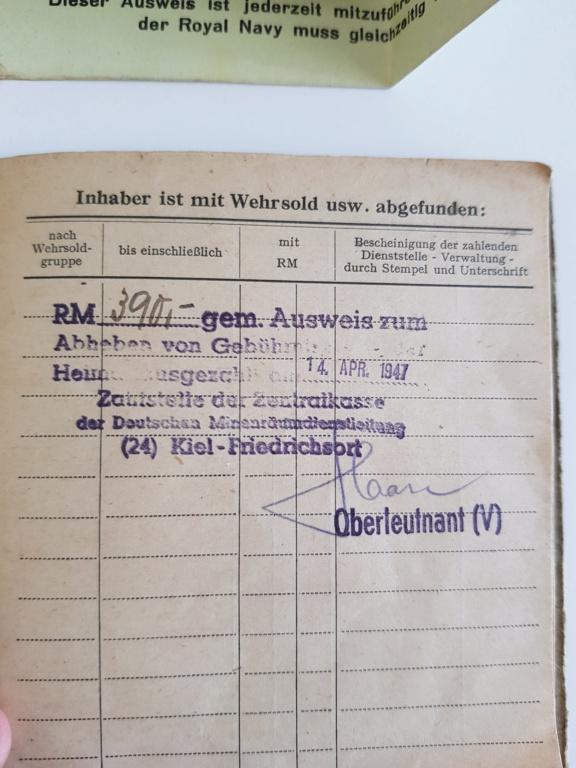 2 grouping soldbuch heer et kriegsmarine Pow démineur  20200735