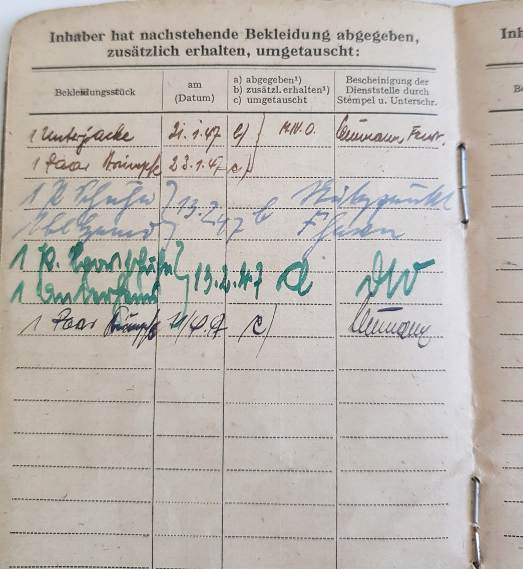 2 grouping soldbuch heer et kriegsmarine Pow démineur  20200736