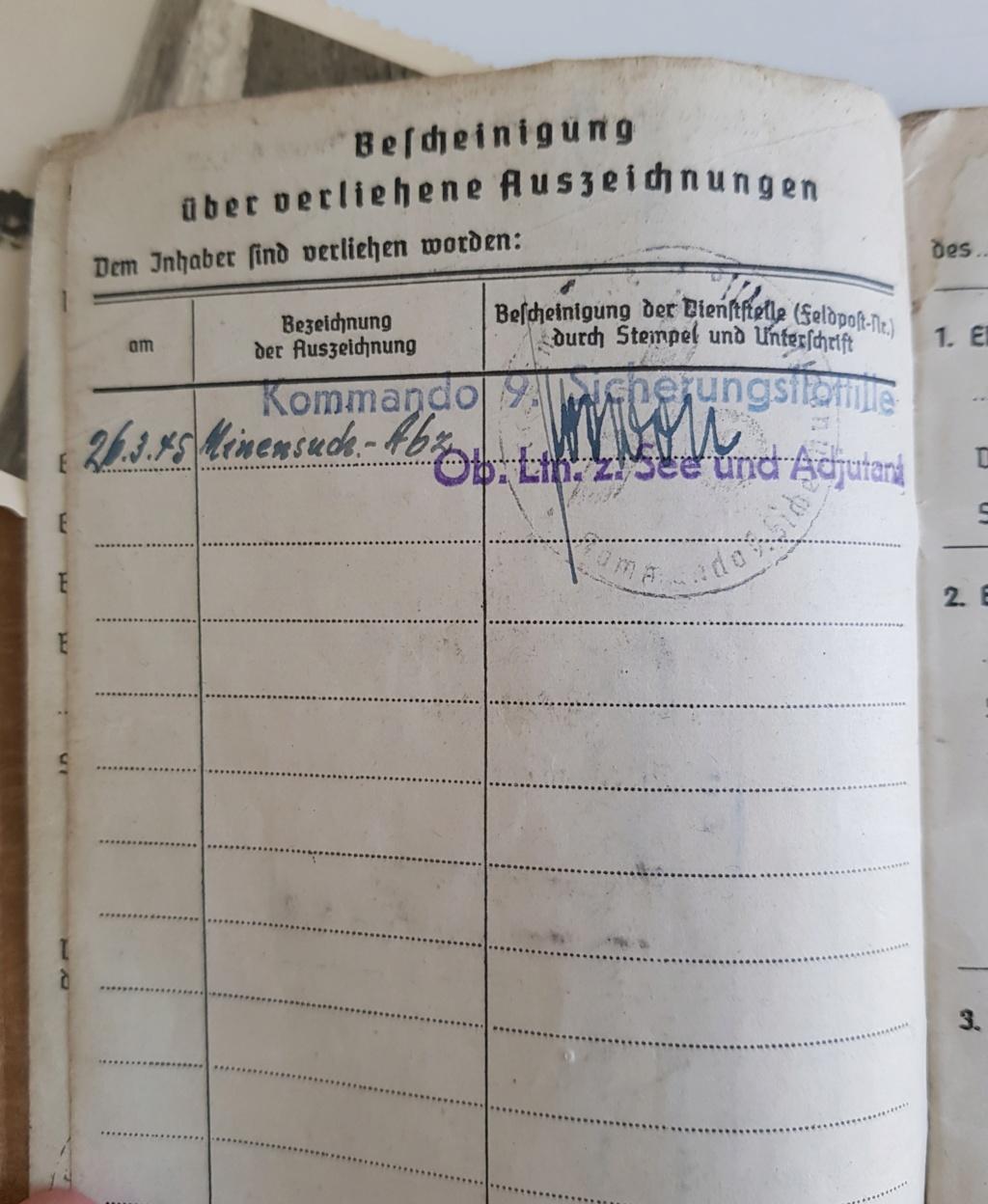 2 grouping soldbuch heer et kriegsmarine Pow démineur  20200739