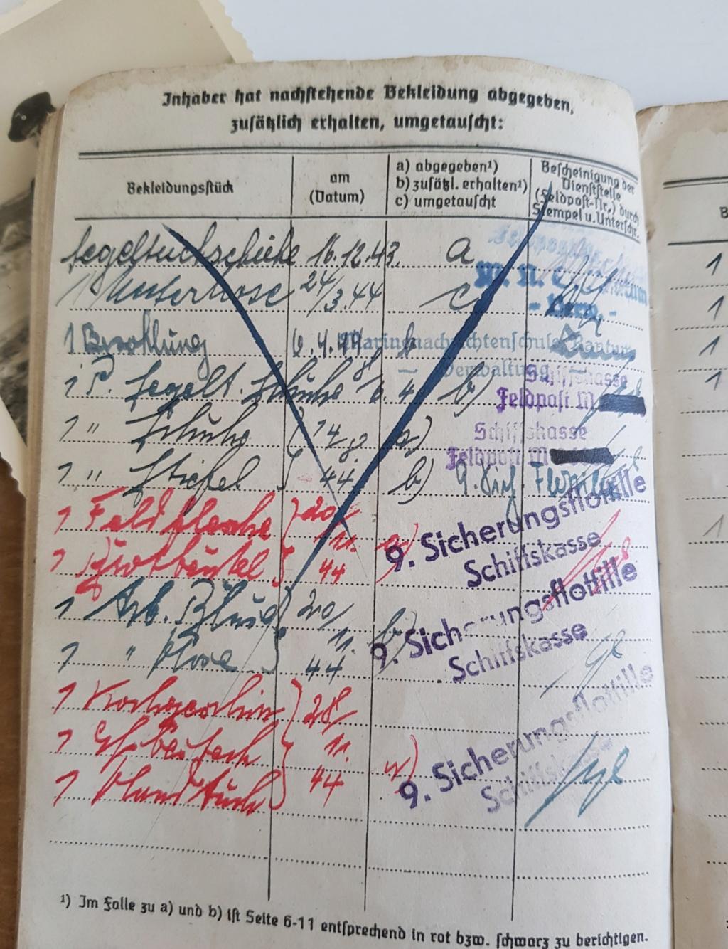2 grouping soldbuch heer et kriegsmarine Pow démineur  20200742