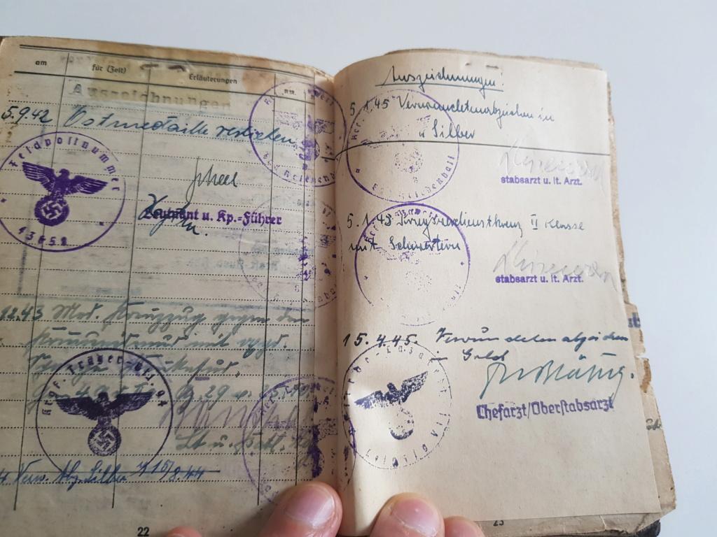 2 grouping soldbuch heer et kriegsmarine Pow démineur  20200755