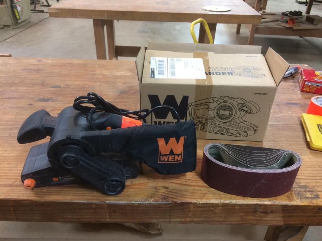 New tools! Handheld belt sander, headless pinner, and more.. Img_3310