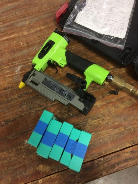 New tools! Handheld belt sander, headless pinner, and more.. Img_3311
