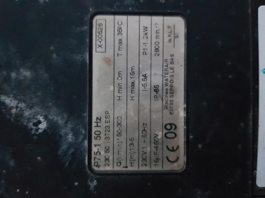 Remplacement pompe P75 20180610