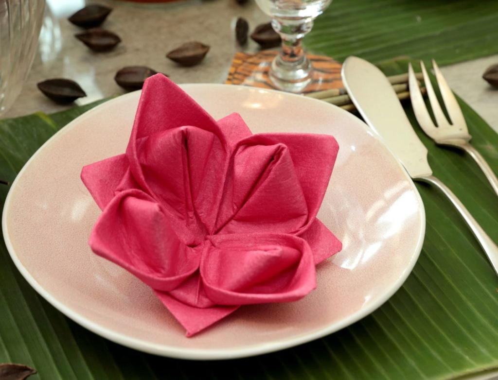 Pliage de serviettes pour embellir vos tables Thumbn10