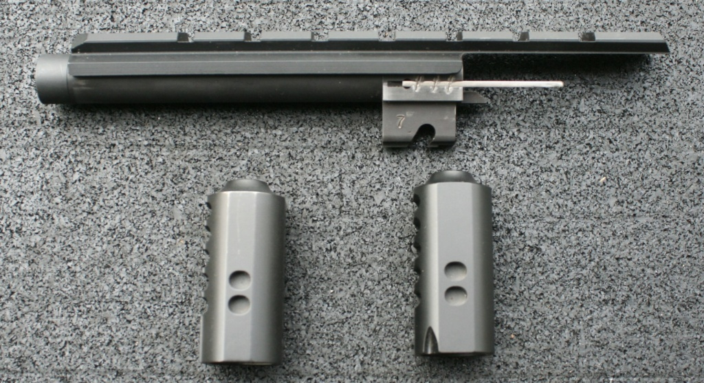 WTS Nelson Threaded Barrel With Scope Rail & Two Barrel Weights Img_8015