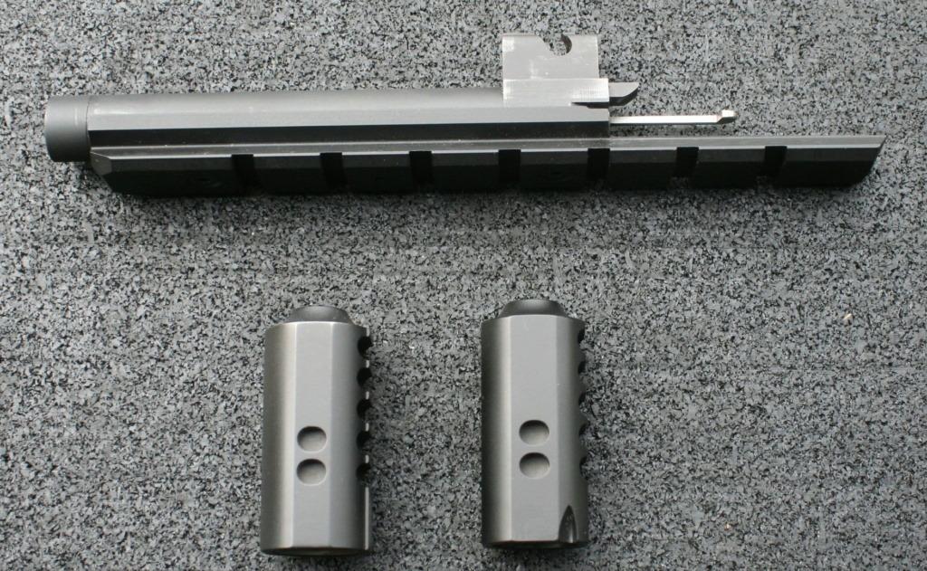 WTS Nelson Threaded Barrel With Scope Rail & Two Barrel Weights Img_8017