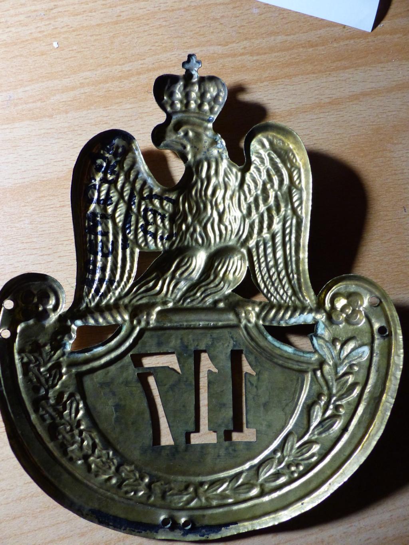 hausse col et plaque de shako à l'aigle P1080919