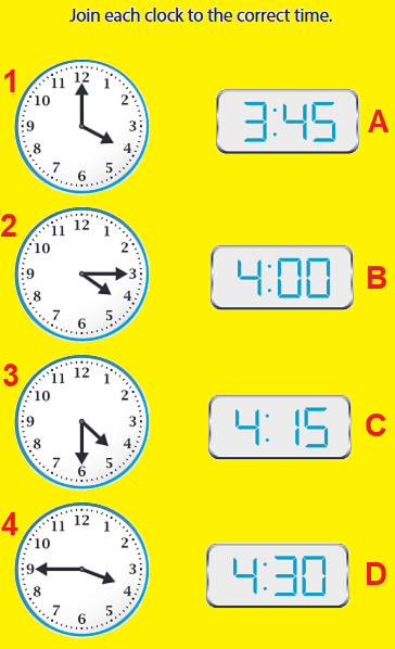 Telling the Time Time1010
