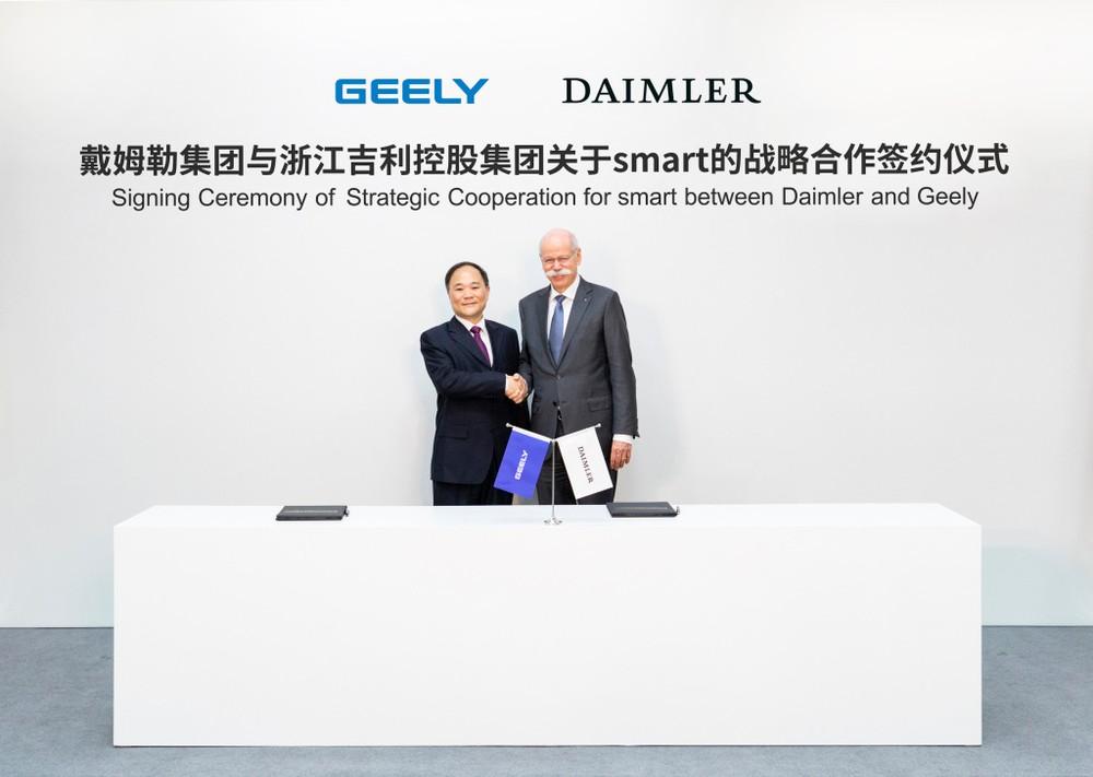Daimler e Geely se unem para produção do novo Smart na China 19c02510