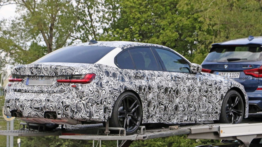 Novo BMW M3 2020 se revela por baixo em carreta 2020-b19