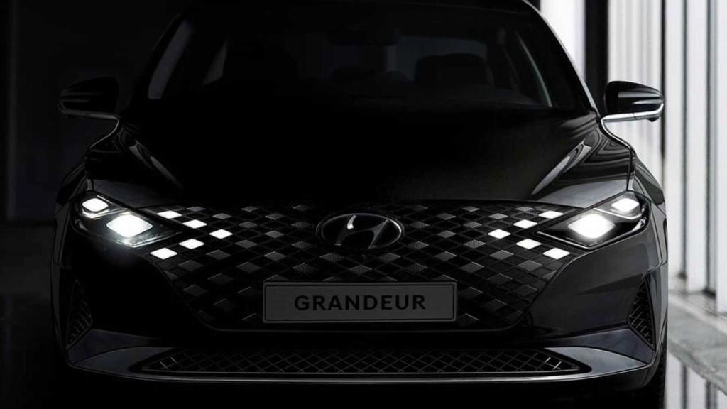 Hyundai Azera 2020 aparece em teasers e confirma grade iluminada 2020-h25
