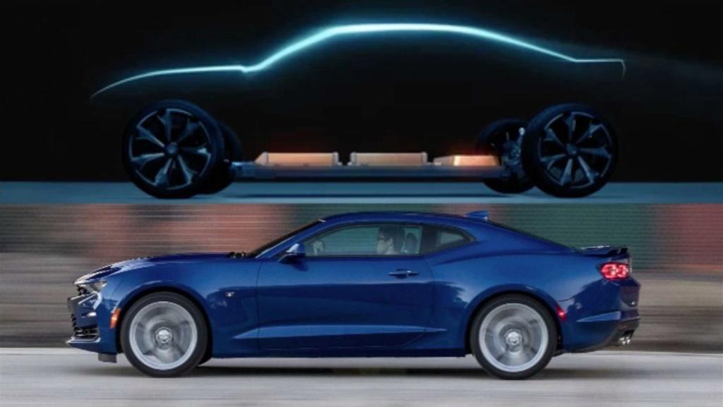 Chevrolet revela teaser de possível Camaro elétrico Chevr166