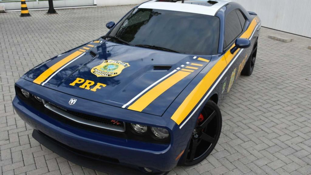Dodge Challenger R/T apreendido vira viatura da Polícia Federal Dodge-12