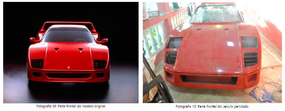Polícia constata plágio de Ferrari em réplica apreendida em Cachoeira Paulista, SP Ferrar26