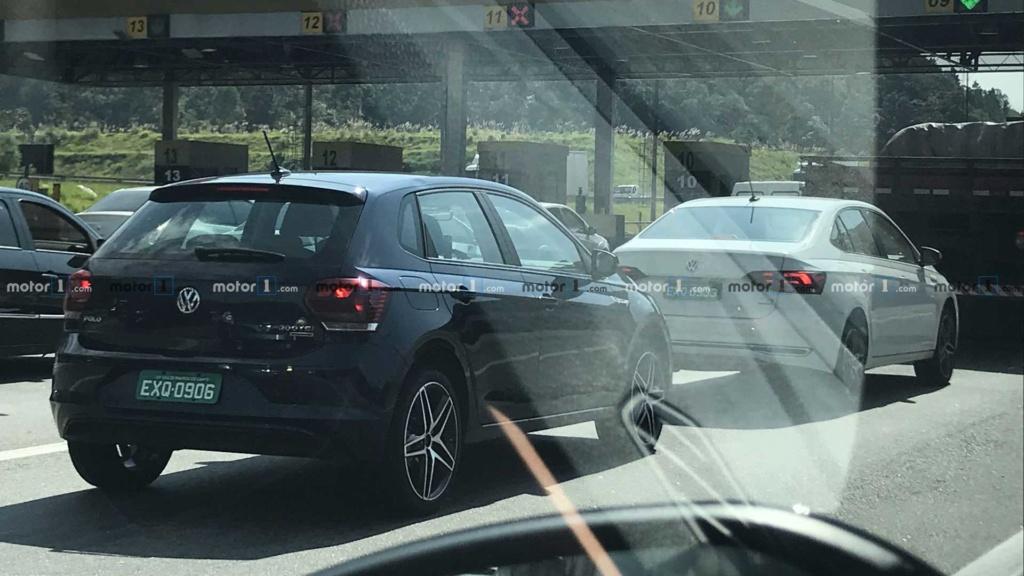 VW Polo e Virtus GTS aceleram juntos em teste de rodagem Flagra13