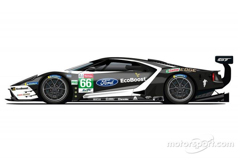 De saída do WEC, Ford revela pinturas retrô para 24 Horas de Le Mans Ford-g10