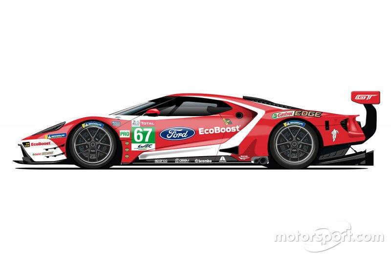 De saída do WEC, Ford revela pinturas retrô para 24 Horas de Le Mans Ford-g11