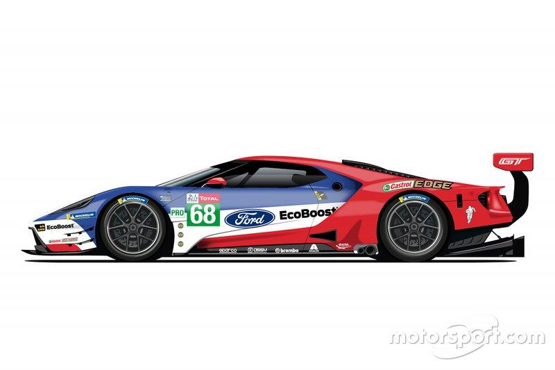 De saída do WEC, Ford revela pinturas retrô para 24 Horas de Le Mans Ford-g12