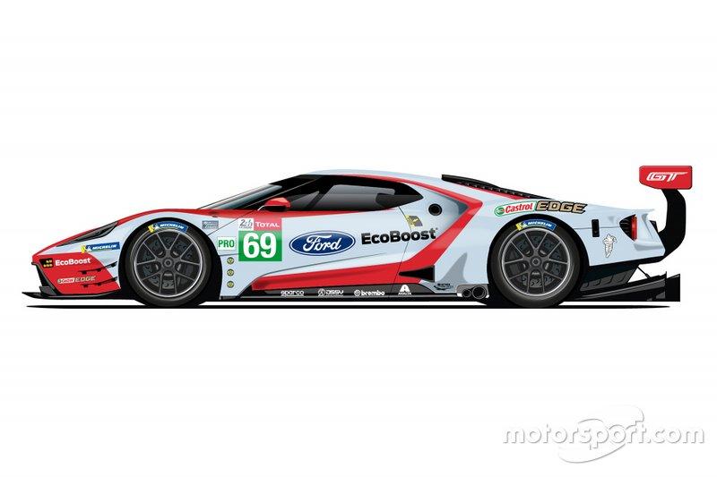 De saída do WEC, Ford revela pinturas retrô para 24 Horas de Le Mans Ford-g13