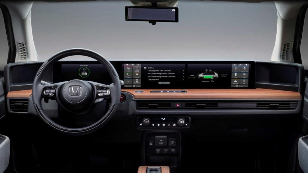 Honda E 2020: elétrico exibe painel com telas digitais duplas Honda120