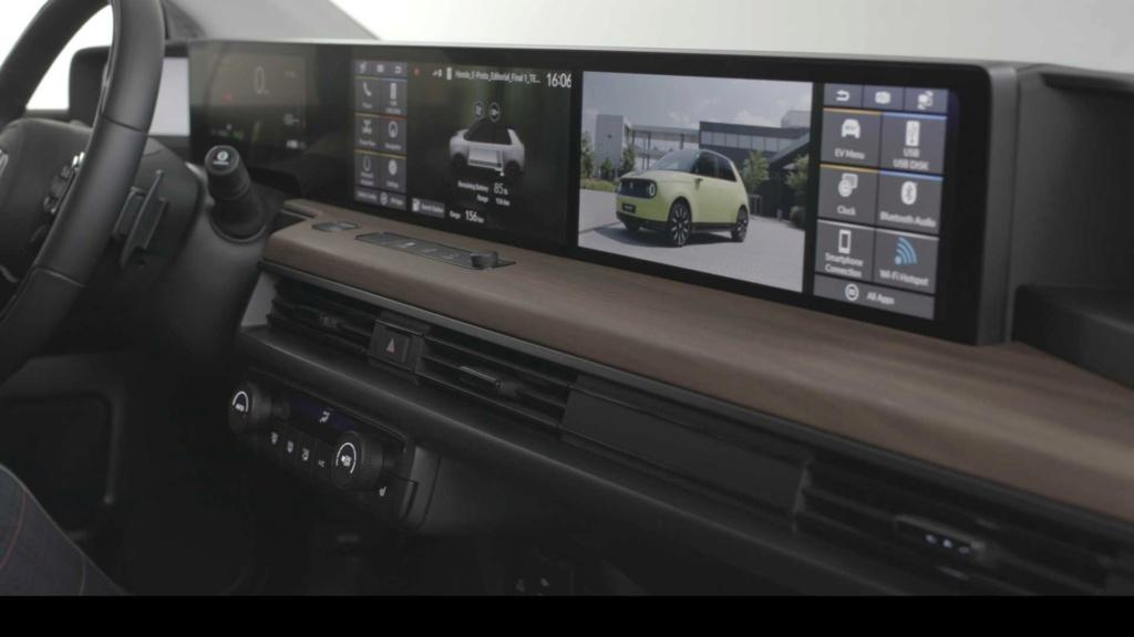 Honda E 2020: elétrico exibe painel com telas digitais duplas Honda123