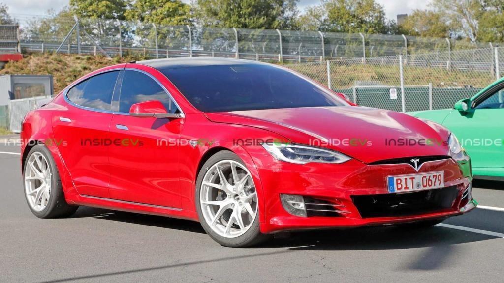 Tesla Model S pode superar recorde de Porsche Taycan em Nürburgring Tesla-20