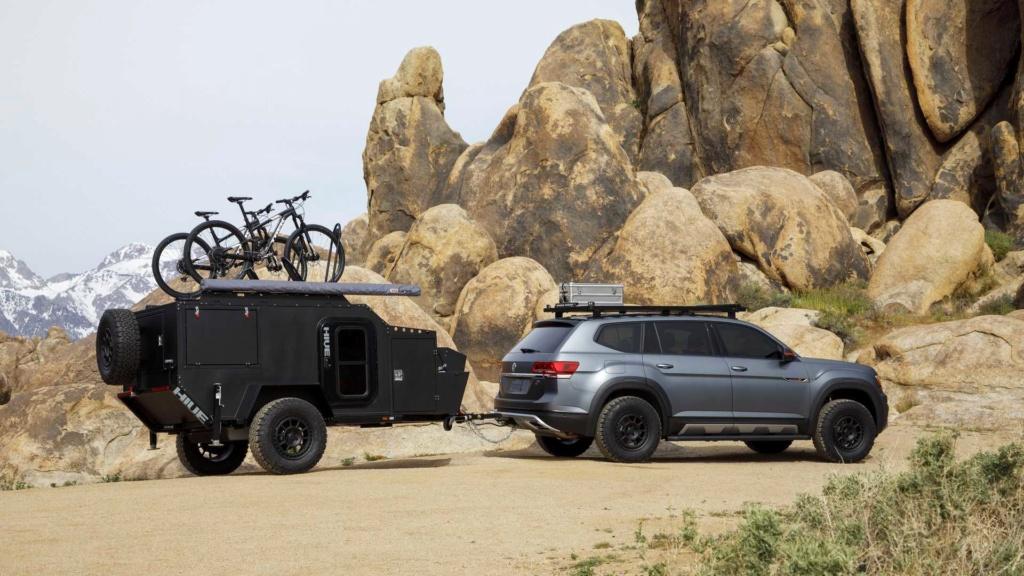 Fora da estrada com o Volkswagen Atlas Basecamp  aventureiro  Volksw46