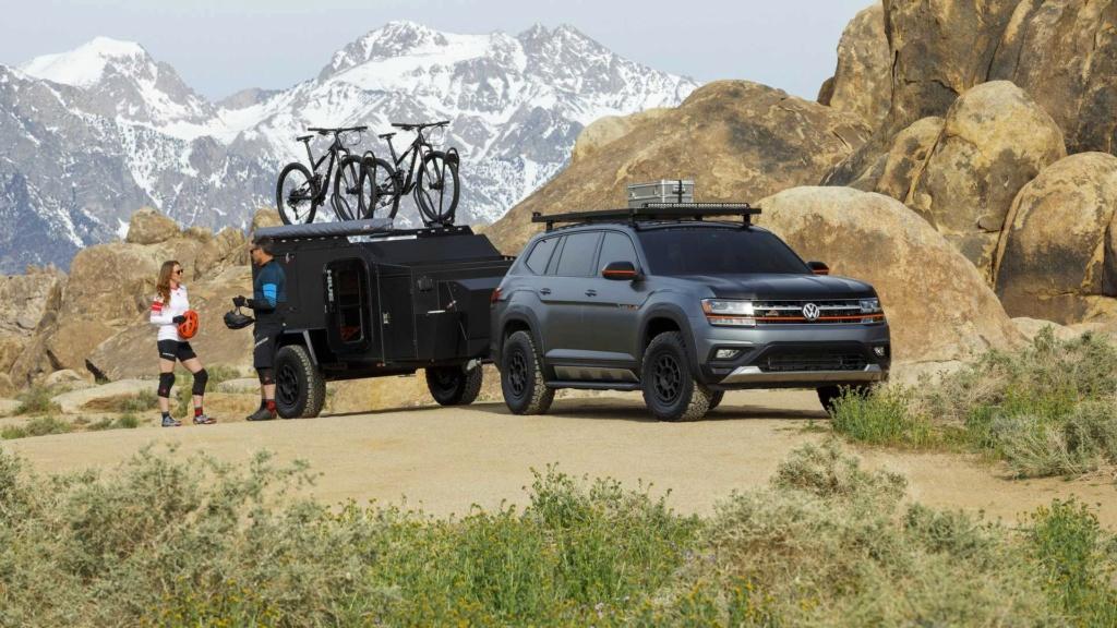Fora da estrada com o Volkswagen Atlas Basecamp  aventureiro  Volksw47