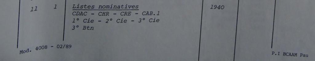 Les bataillons de disponibles ou XXIe Bataillon de RI 107-0210