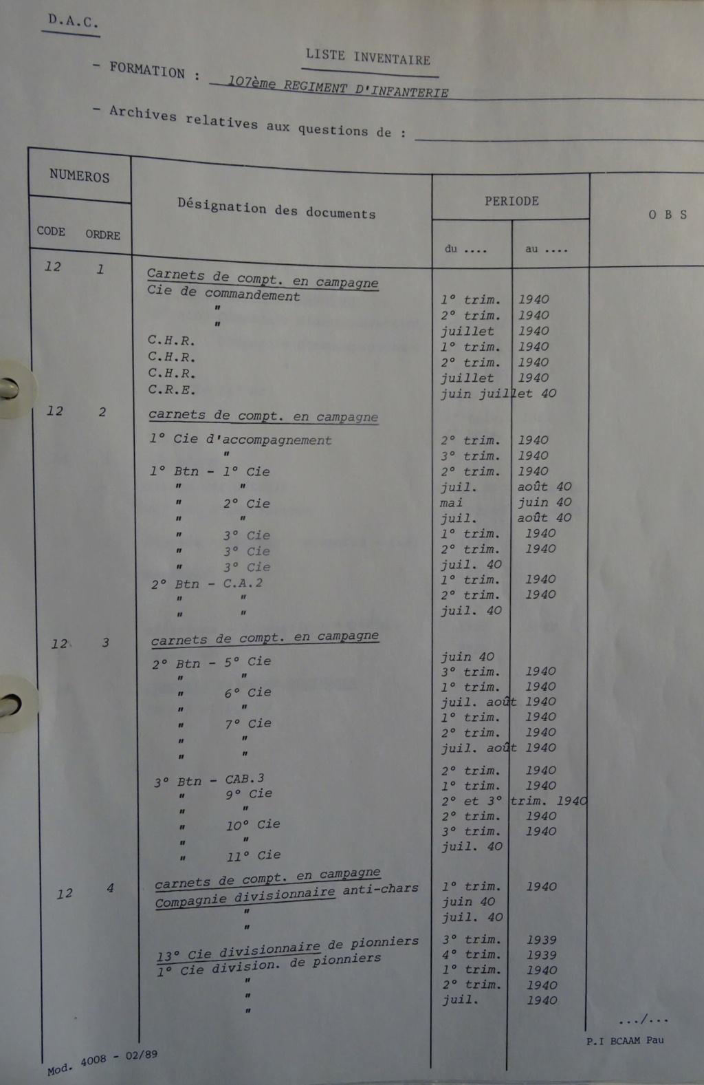 Les bataillons de disponibles ou XXIe Bataillon de RI 107-0310