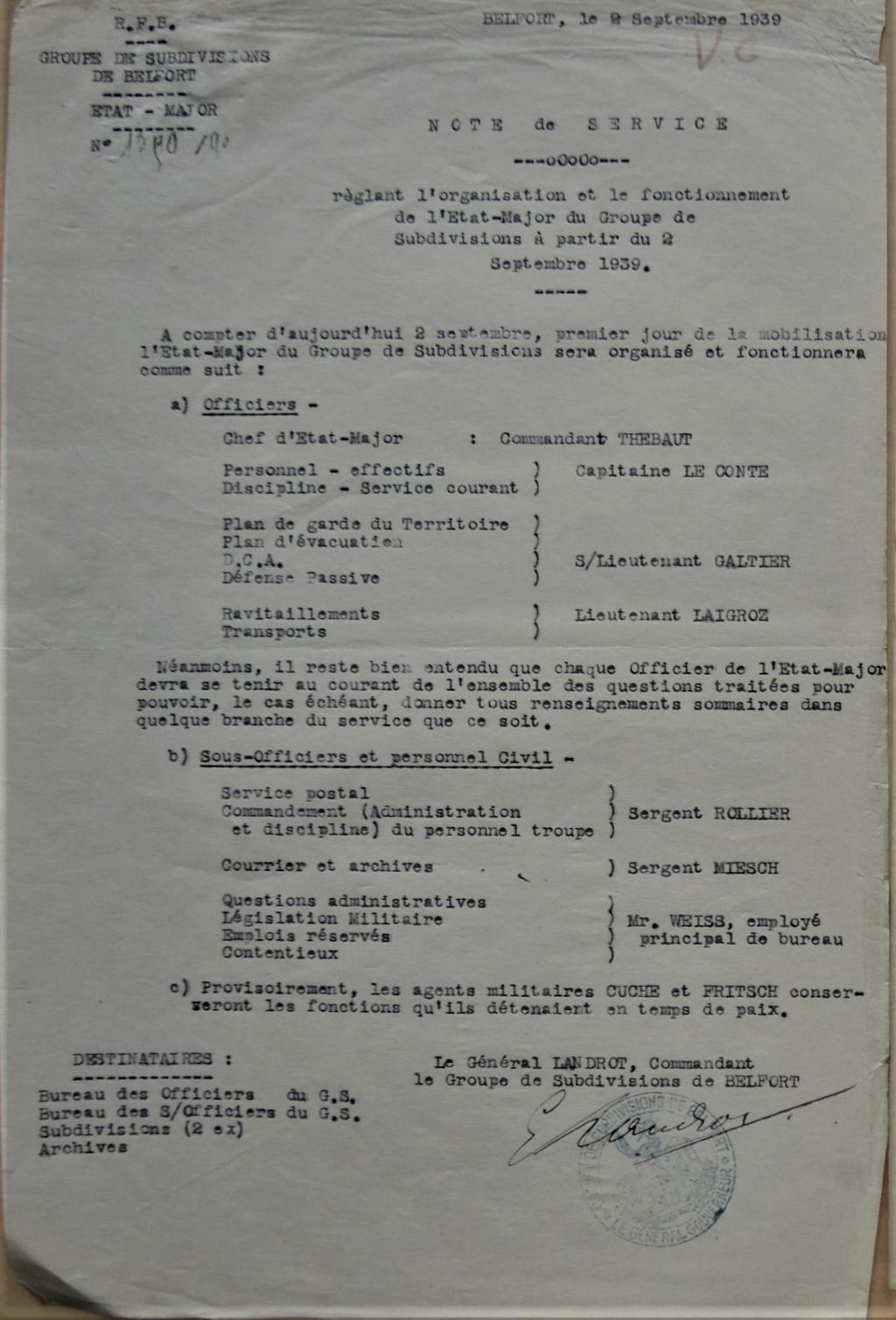 GS de Belfort et Subdivisions de Belfort et de Mulhouse 1940-013
